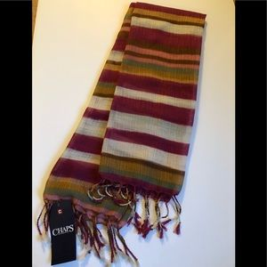 Chaps multi-colored scarf. New with tag.